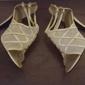2 in champagne colored heels